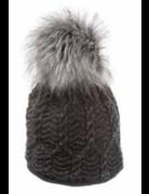Village House Beanie with Faux Fur