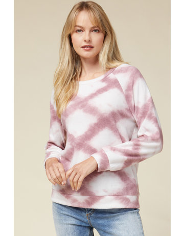 Entro USA Ikat Print Pullover