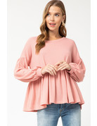 Entro USA Waffle Knit Scoop Neck Top