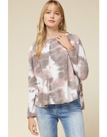 Entro USA Tie Dye Asymmetrical Top