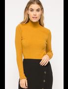 Mystree Corded Mock Neck Pullover