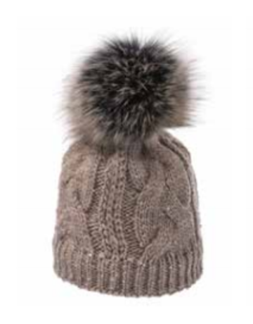 Village House Beanie with Faux Fur