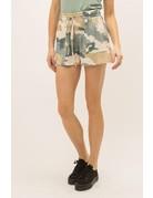 Mystree Camo Washed Shorts