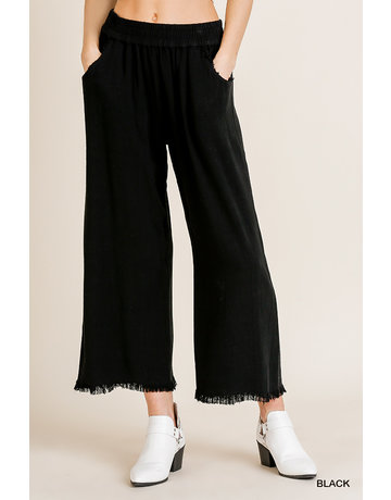Umgee USA Wide Leg Pant w/Pocket