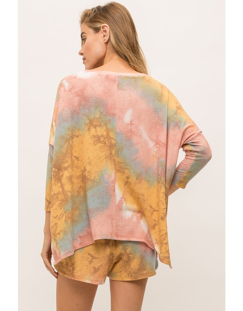 Mystree Tie Dye Terry Baggy Top