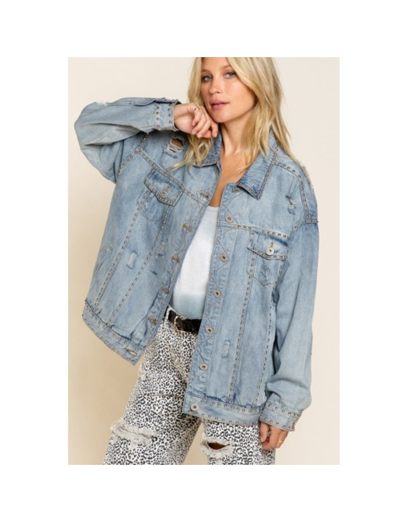 POL Clothing Denim Better with Studs