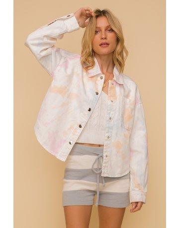 Hem & Thread Tie Dye Crop Length Jacket