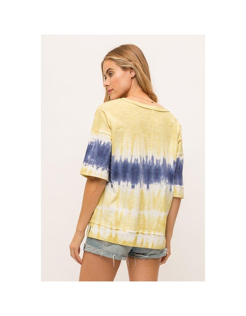 Mystree Tie Dye Half Sleeve Pullover