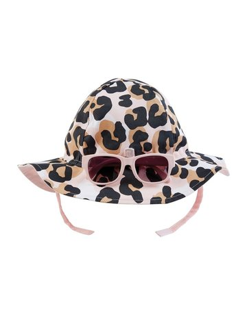 Leopard Sun Hat & Glasses