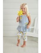 Floral Stripe Top & Legging Set