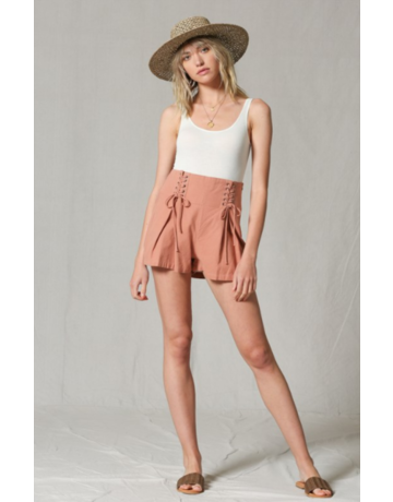 By Together Corset Detail Shorts