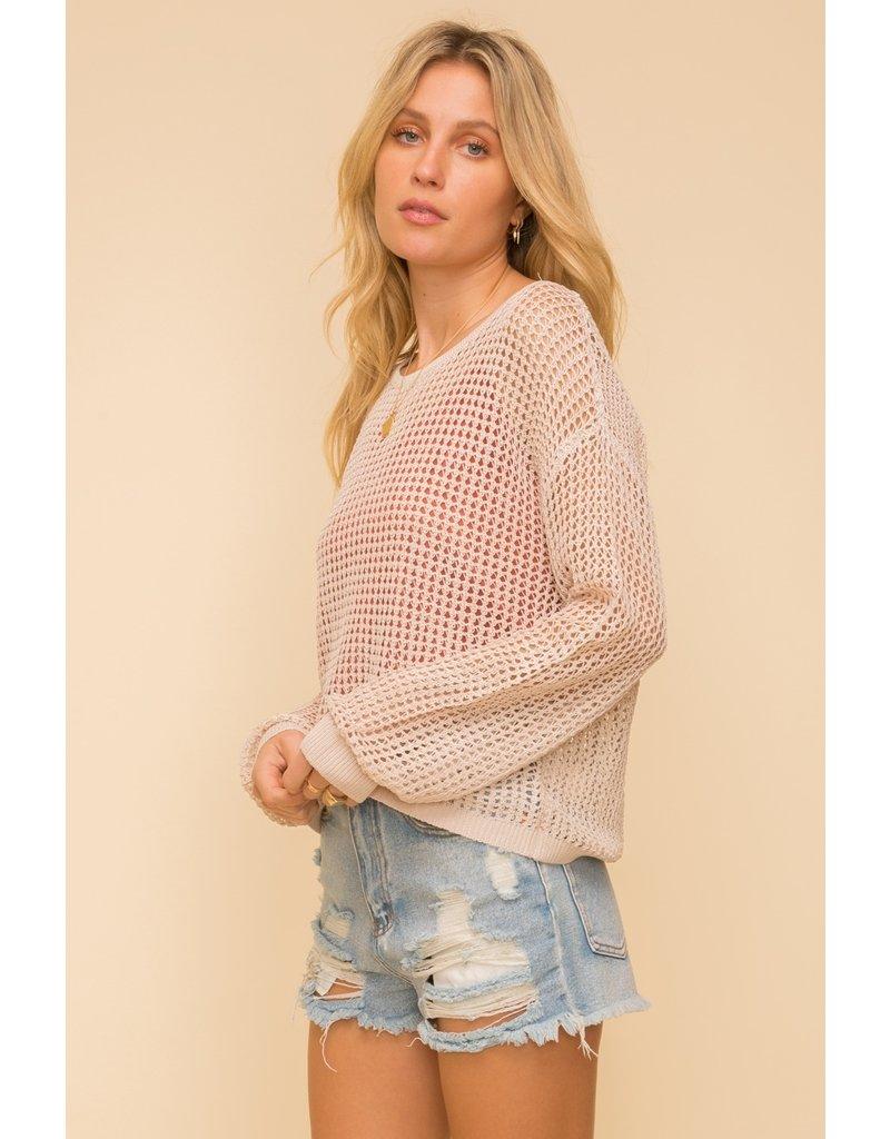 Hem & Thread Crochet Pullover w/Brami Set