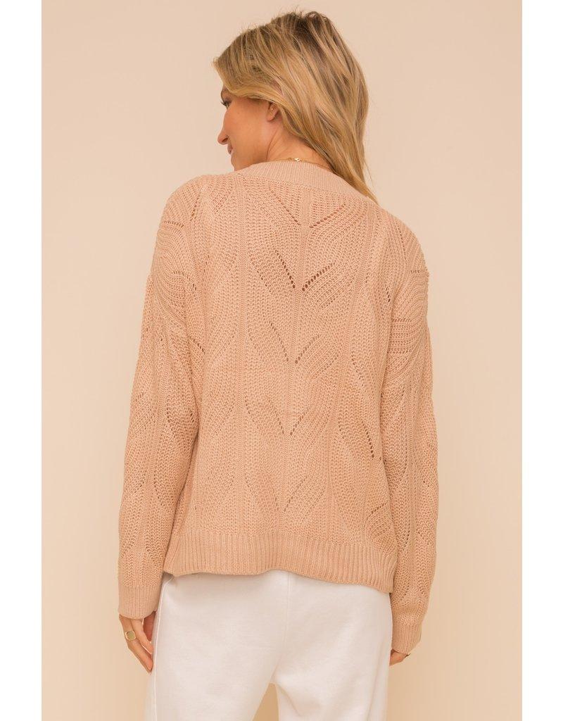 Hem & Thread Textured Button Down Cardigan