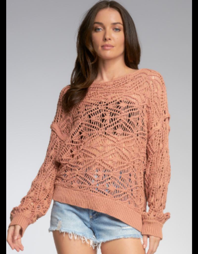 Loose Knit Off Shoulder Sweater