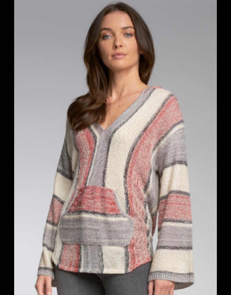 Hoodie Vneck Sweater