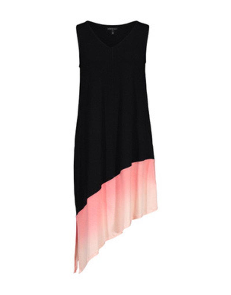 Tribal Sportswear Asymmetrical Dip Dyed Slvls Dress