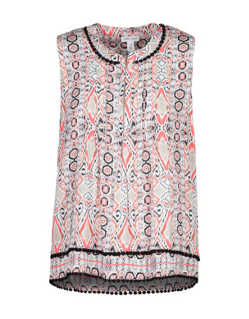 Tribal Sportswear Slvls Blouse w/Tuck Pleats