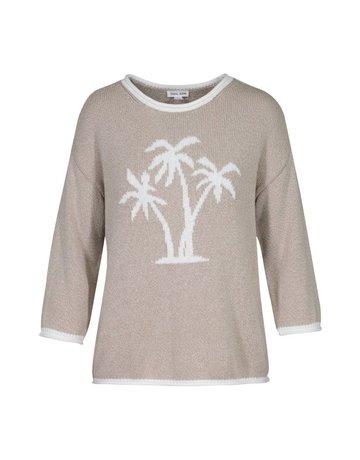 Tribal Sportswear 3/4 Slv Sweater w/Jacquard