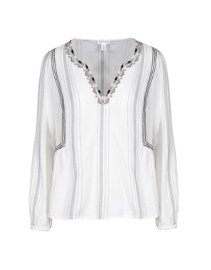 Tribal Sportswear LS Embroidered Blouse