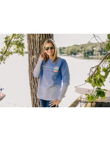 lakegirl Ombre Lake Life Long Sleeve Tee