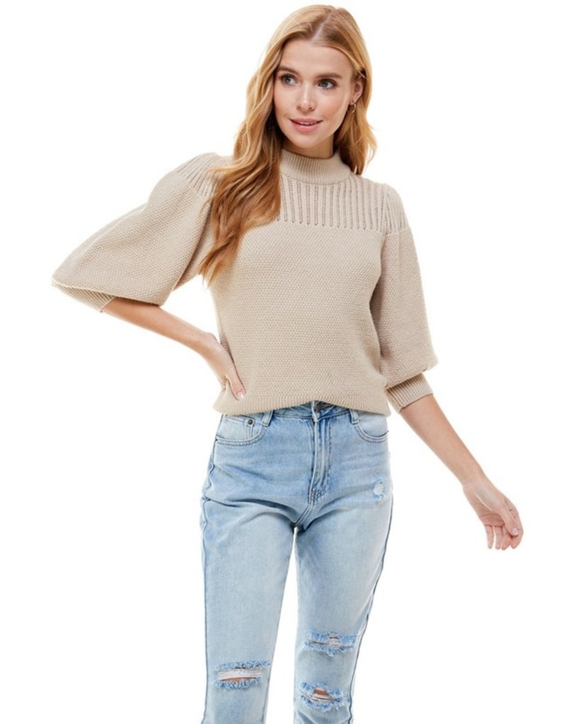 Ontwelfth Pointelle Patterened S/S Sweater