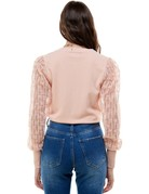Ontwelfth Contrast Sleeve Light Weight Sweater