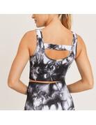 Mono B Smokescreen Tie-Dye Ribbed Seamless Sports Bra