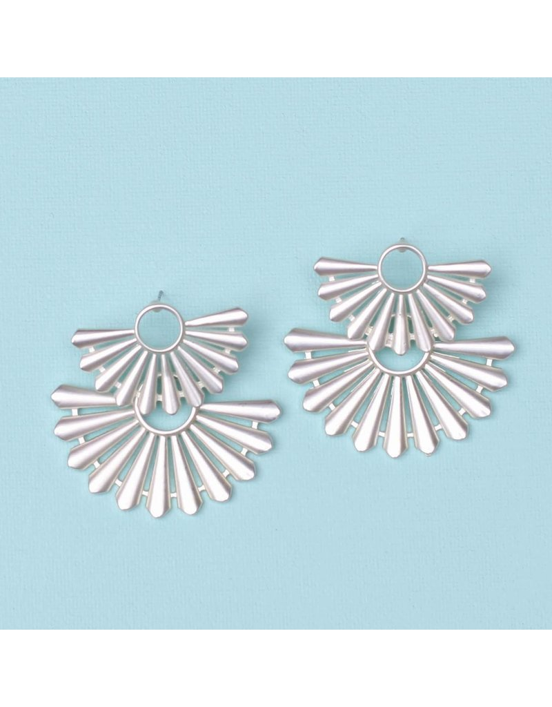 Michelle McDowell Earrings Dayton Silver
