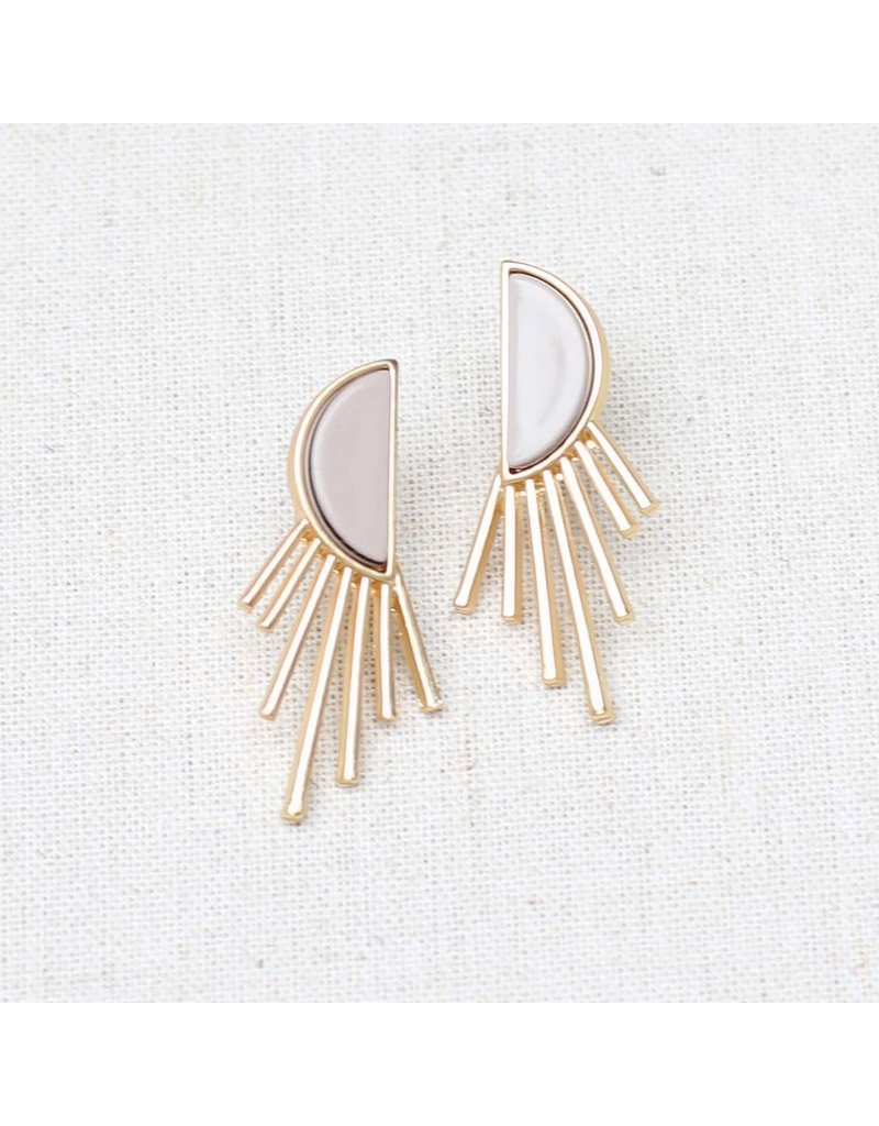Michelle McDowell Earrings Everly Gray
