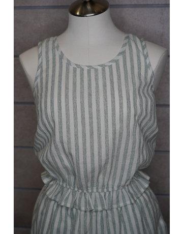 Hem & Thread Vintage Stripe Tank Crop Top