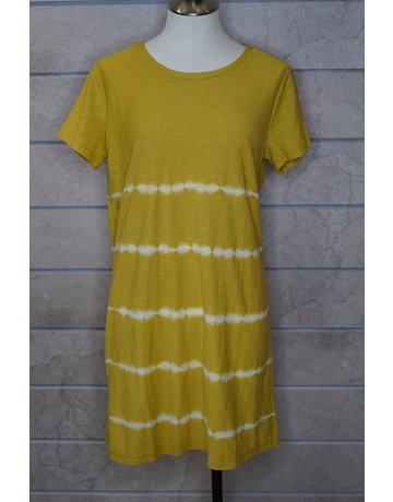Hem & Thread Stripe Tie Dye Jersey Shift Dress