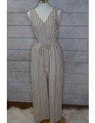 Hem & Thread Stripe Sleeveless Jumpsuit