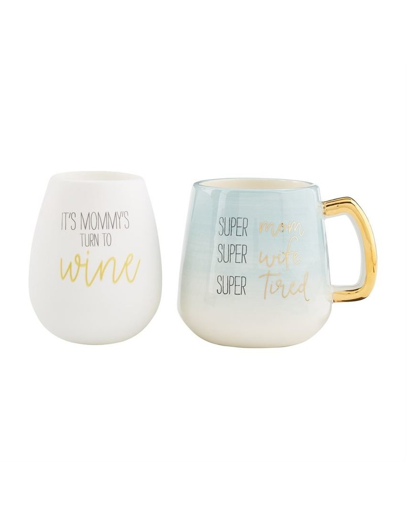 Mom Silicone Wine Mug Set