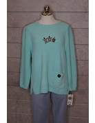 Lulu-B 3/4 Slv Chenille Embroidered Sweater