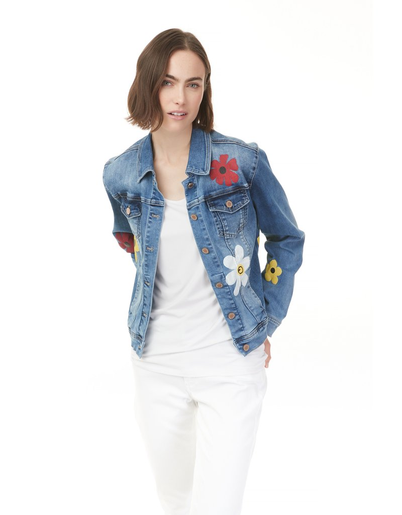 Printed Denim Jean Jacket