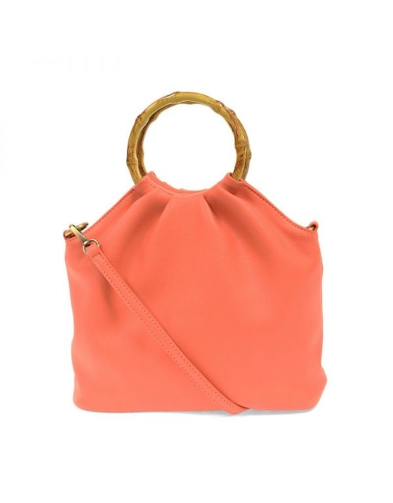 Joy Natalie Bamboo Handle Pouf Bag
