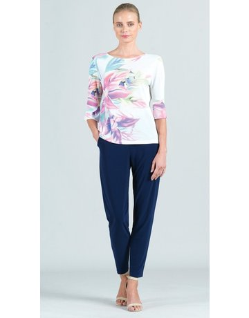 Water Color Floral Mesh Knit Top