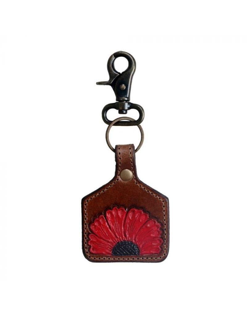 Vermillion Petals Keychain