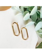 Oval Post Earrings