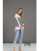 Orly Hi Low Striped Tunic