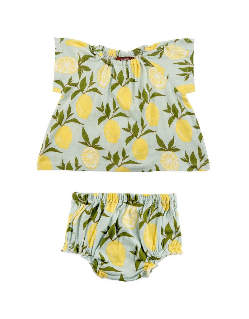 Milkbarn Lemon Dress Set