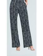 Geo Squares Straight Leg Soft Knit Pants