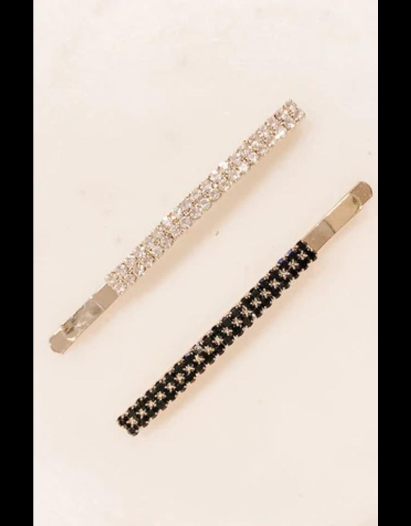 Two Row Stone Hair Clip