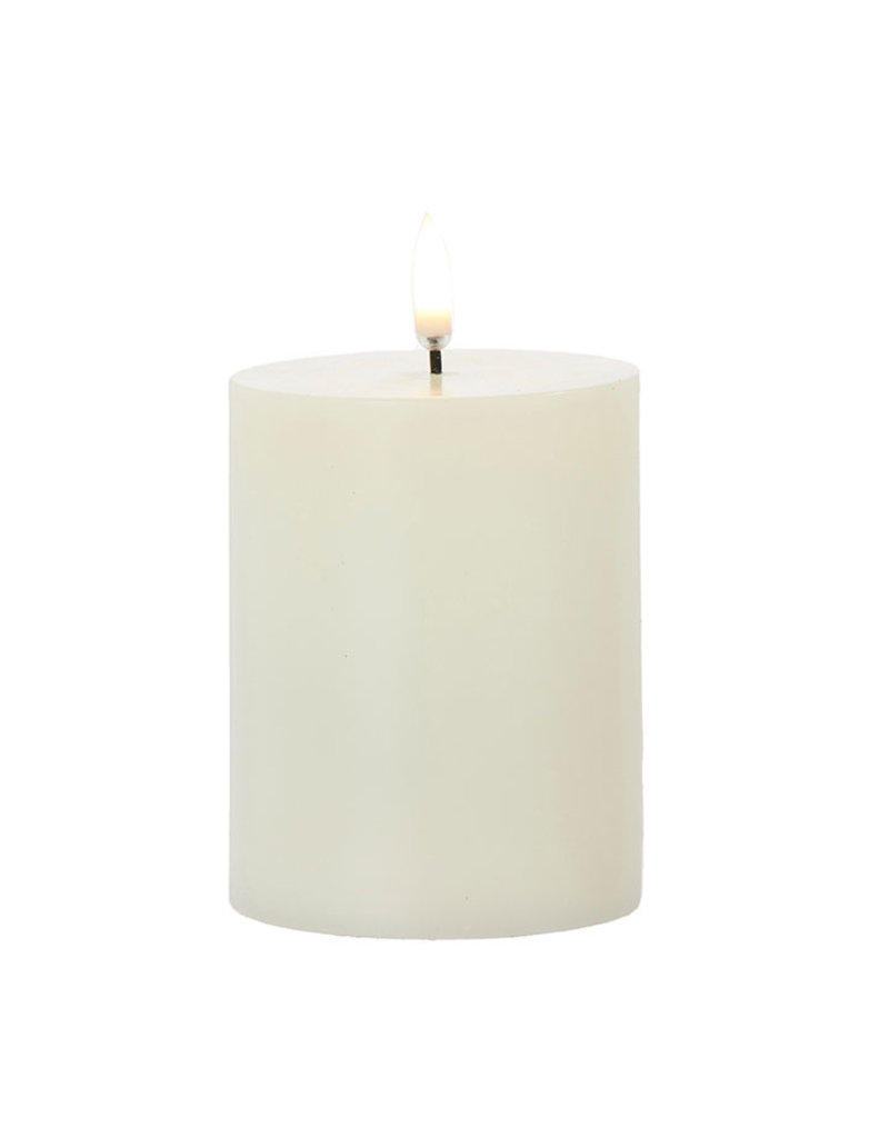 Ivory Pillar Candle 3x5