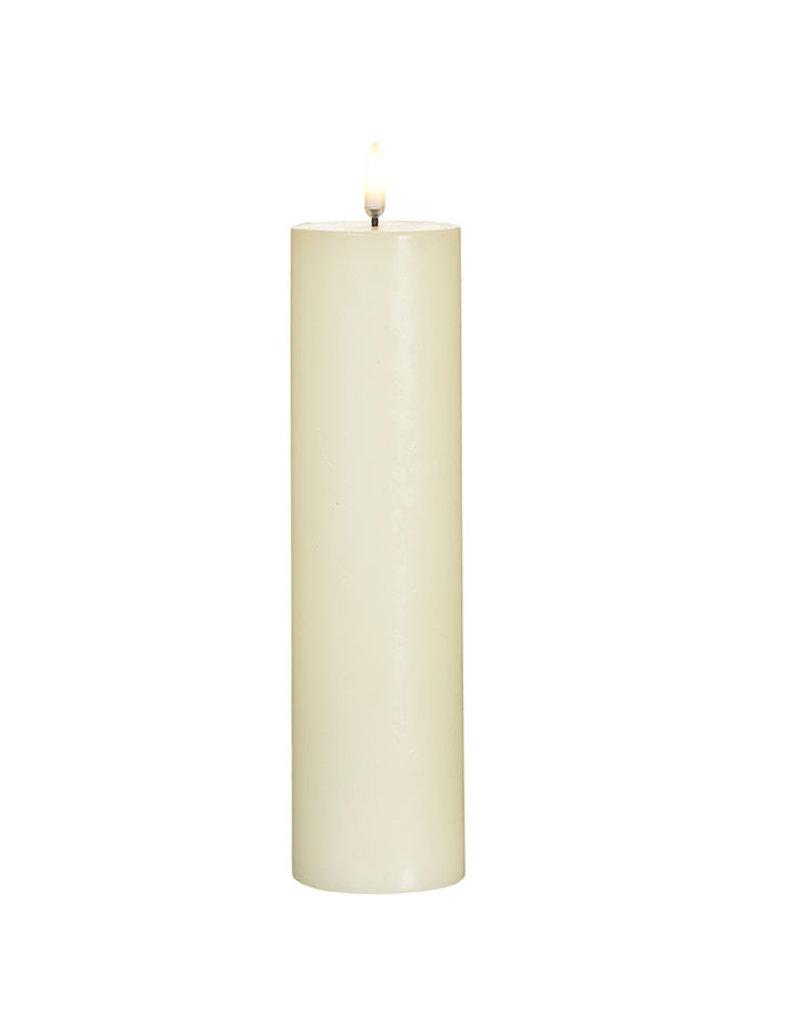 "Ivory Pillar Candle 2.25x9.75"""