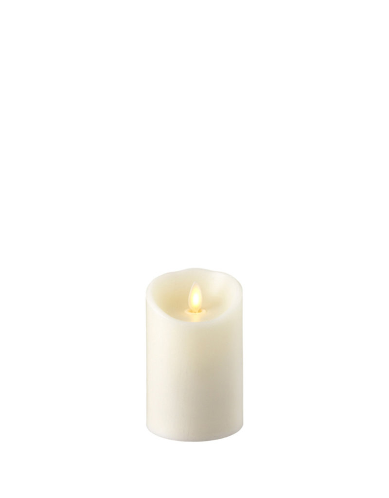 Ivory Push Flame Pillar 3x5