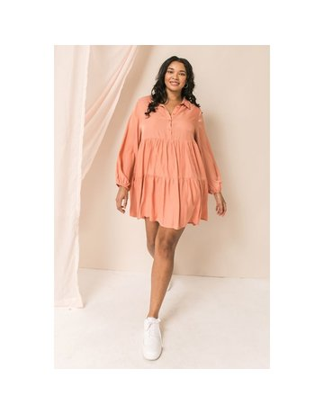 Flying Tomato A Plus Solid Woven Dress