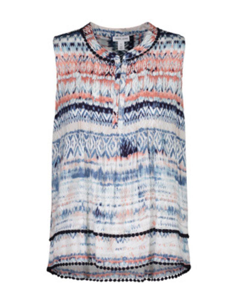 Tribal Sportswear Slvls Blouse w/Tuck Pleats