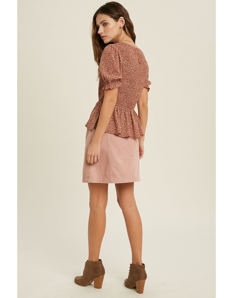 SS Smocked Top