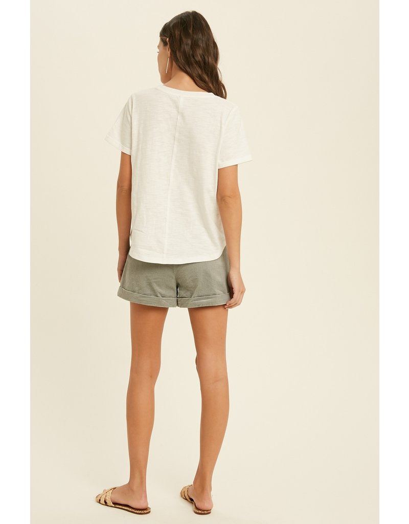 Chest Pocket Tee Top